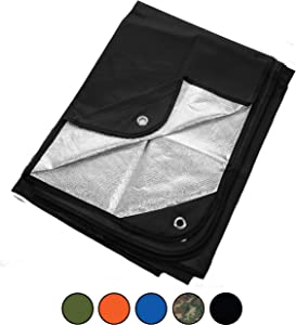 """Arcturus Heavy Duty Survival Blanket - Insulated Thermal Reflective Tarp - 60"""" x 82"""". All-Weather, Reusable Emergency Blanket for Car or Camping. Thermal Barrier Blocks Infrared Signature"""