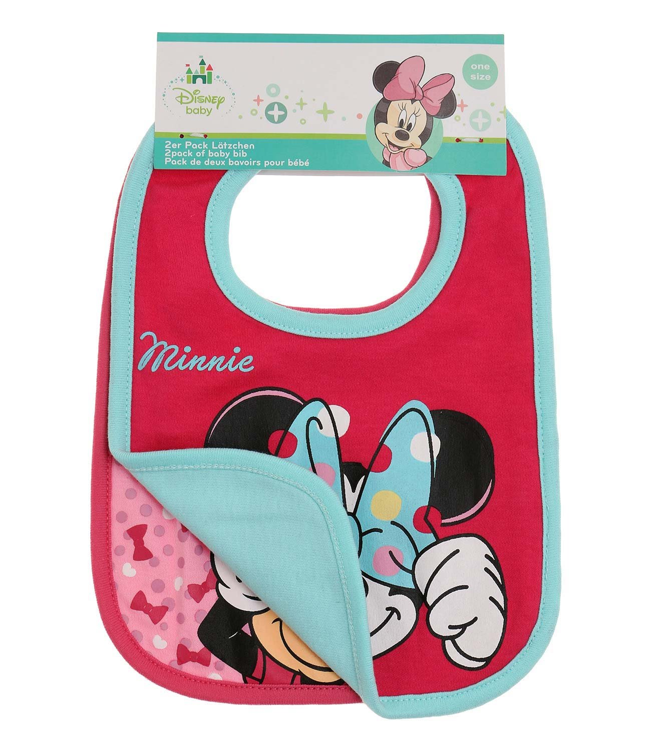 Disney Minnie Babies 2 pack bib 2016 Collection - fuchsia WS-133231