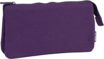 MILAN Portatodo 3 Compartimentos Knit Deep Purple Estuches, 22 cm, Morado: Amazon.es: Equipaje