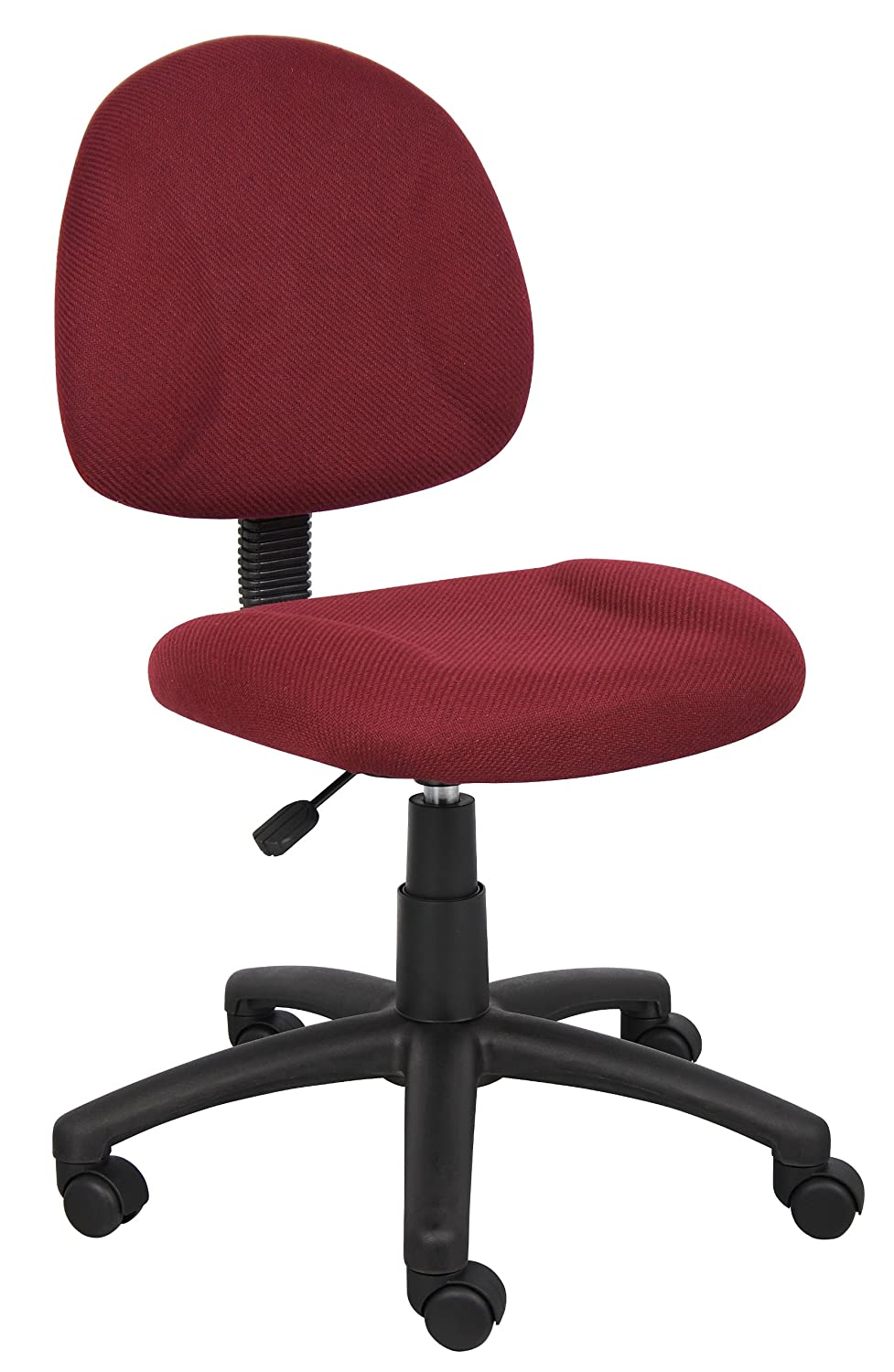 Back posture chair - Amazon Com Boss Office Products B315 By Perfect Posture Delux Fabric Task Chair Without Arms In Burgundy Kitchen Dining