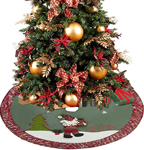 QILICZ Árbol de Navidad falda gruesa para árbol de Navidad, árbol ...
