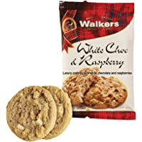 Walkers Shortbread White Chocolate & Raspberry Cookie Snack Packs, 100 Count