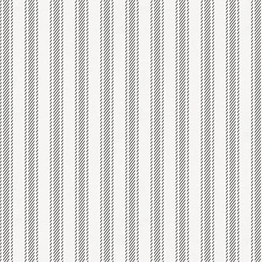 Amazoncom Carousel Designs Cloud Gray Ticking Stripe Fabric By The