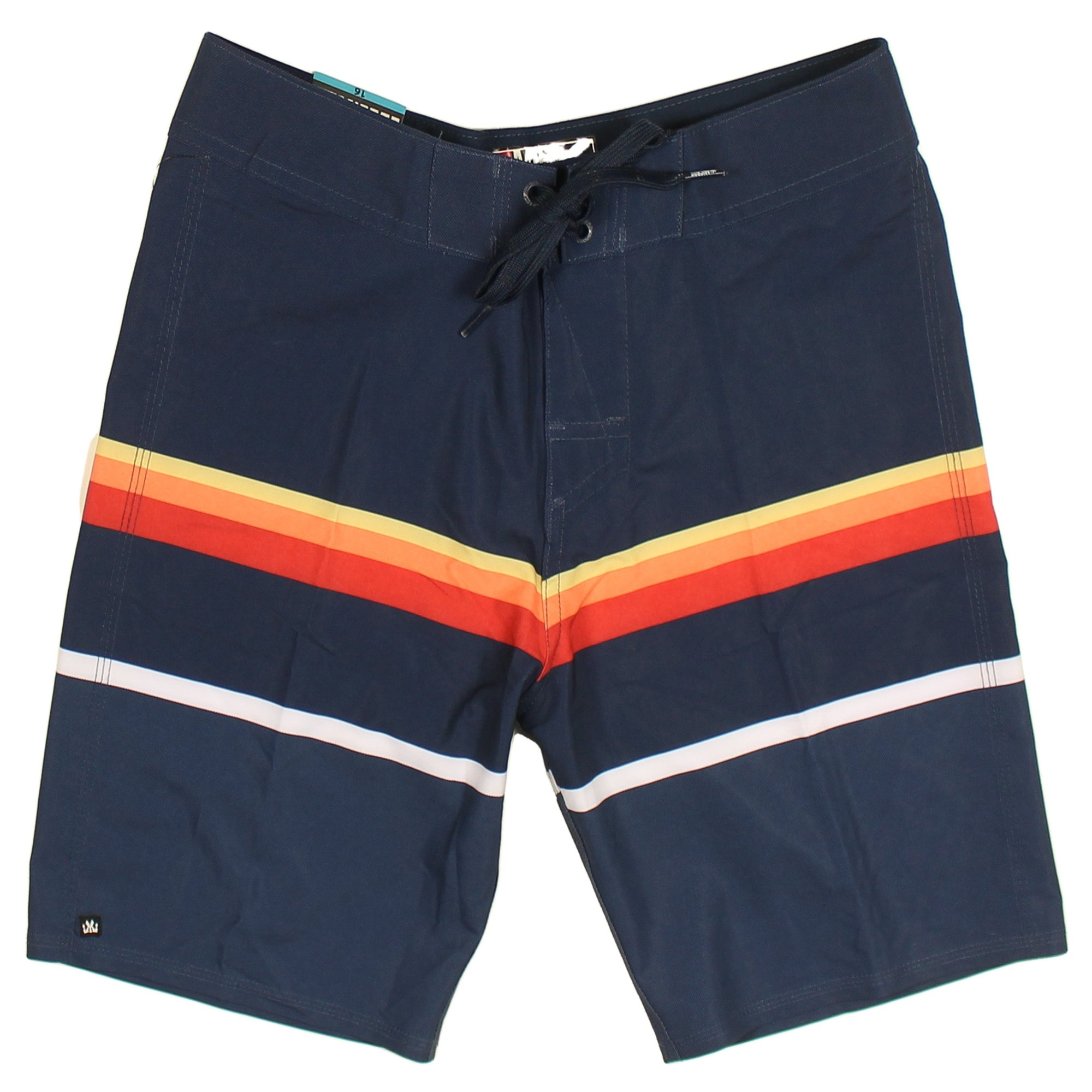 Micros Boy's Microfiber Boardshorts (16, Blue/Striped) by Micros (Image #1)