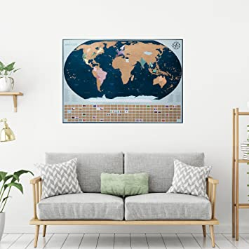 Gb eye ltd world map maxi poster 61x915cm gn0214 gb eye ltd amazoncom travel scratch off map with bonus accessories world large world map poster amazon gumiabroncs Images