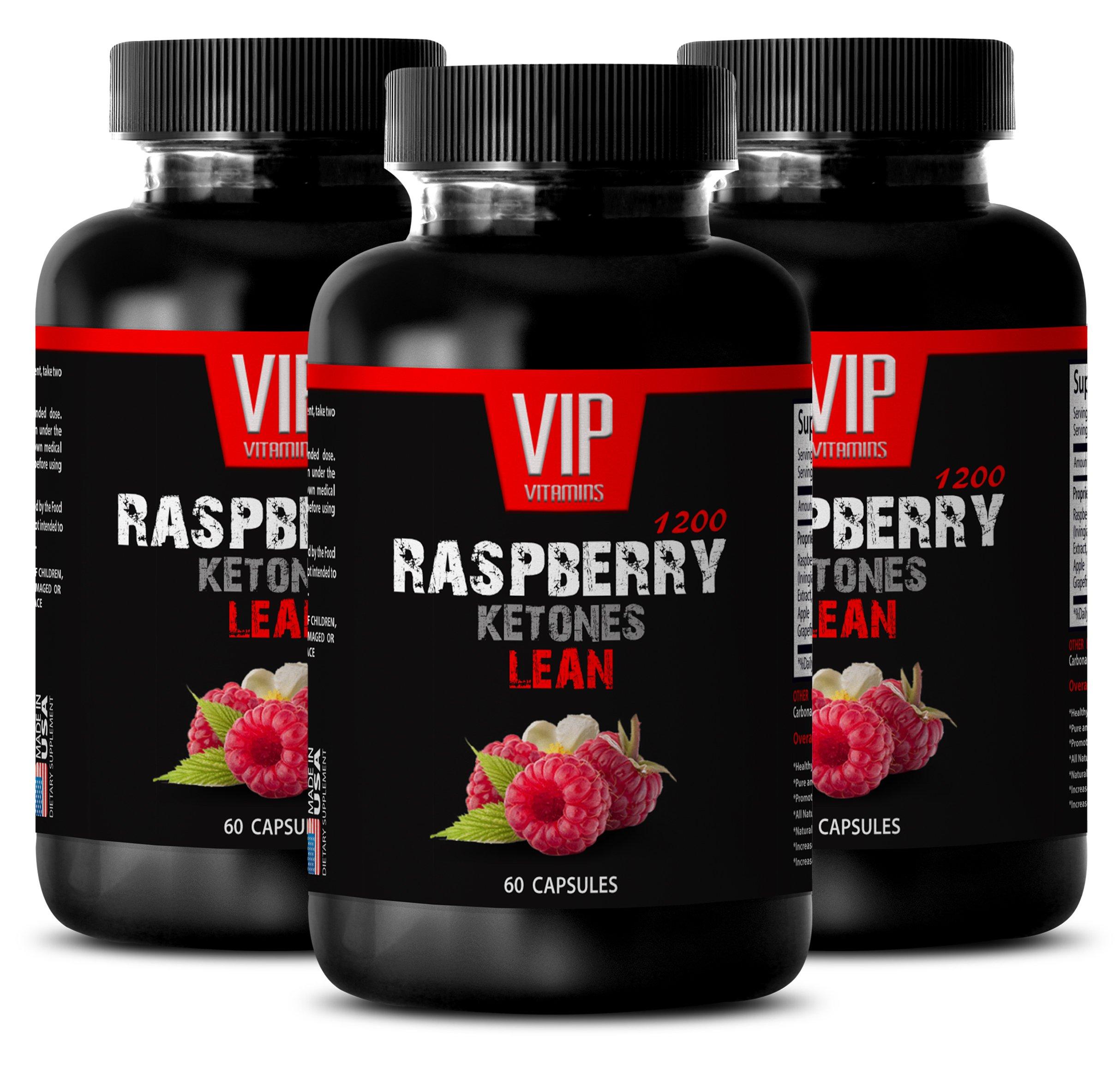 Weight Loss Quick Start - Raspberry Ketones Lean 1200MG - Raspberry Ketone Weight Loss - 3 Bottles (180 Capsules)