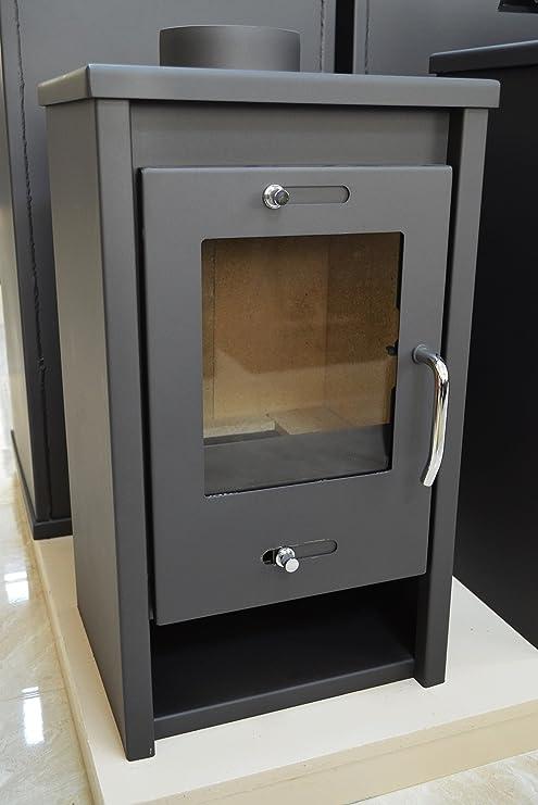 Estufa de leña 7 kW chimenea delgado modelo chimenea bajo las emisiones blmschv 2