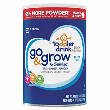 Product of Similac Go & Grow Milk-Based Toddler Drink