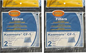 Kenmore Sears Progressive Foam Filter CF1, Progressive & Whispertone, Panasonic Vacuum Cleaners, 86883, 86880, 20-86883, 2086883, 8175084 (4 Filters)