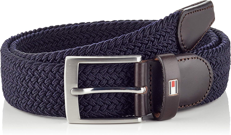 Tommy Hilfiger Cinturón Trenzado y elegante con Ribetes Suaves y Cierre de Hebilla para Hombre