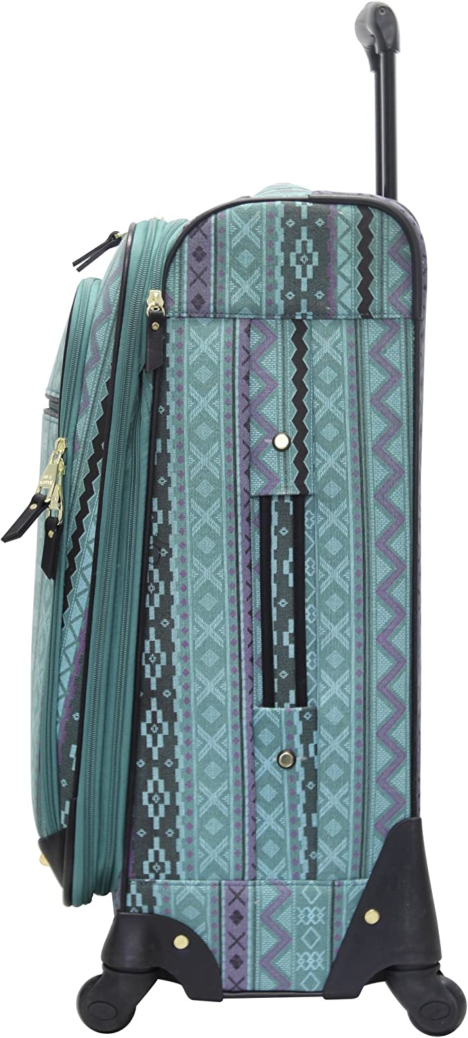 Steve Madden Luggage Large 28 Expandable Softside Suitcase With Spinner Wheels 28in, Legends Turquoise