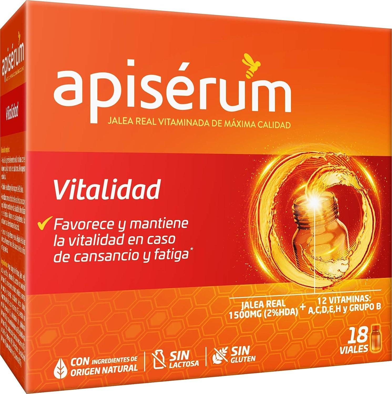Apisérum Vitalidad Viales bebibles - - Jalea Real con Vitamina C - Multivitamínico - Vitaminas A,C,D,E,H y grupo B