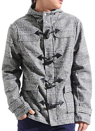 71c2cfc59bccd メルトンウールダッフルコート ダッフルコート ダッフル ジャケット コート メンズ Mサイズ グレンチェック