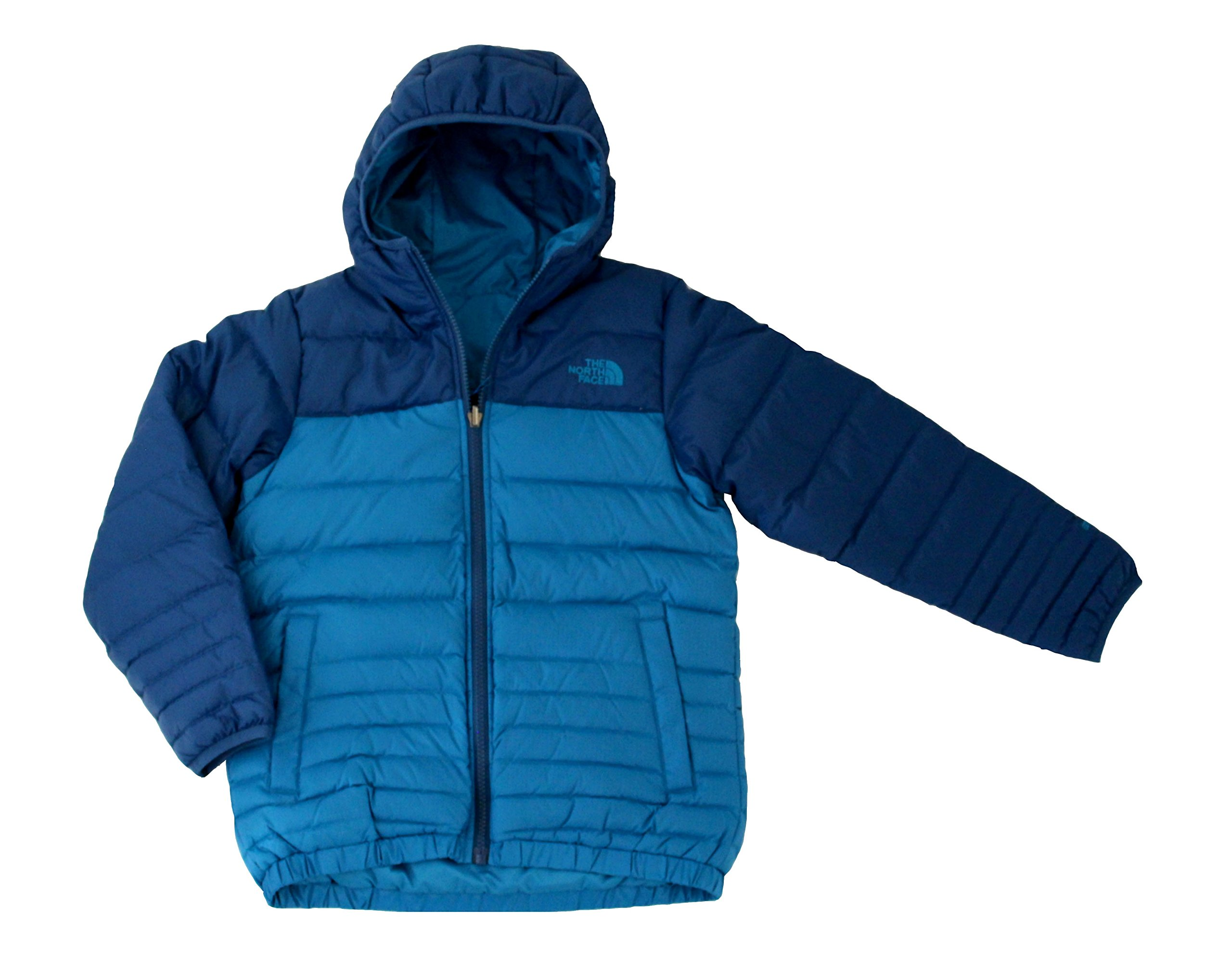 THE NORTH FACE Youth Boys Reese Down Reversible Hooded Jacket Danish Blue (S 8)