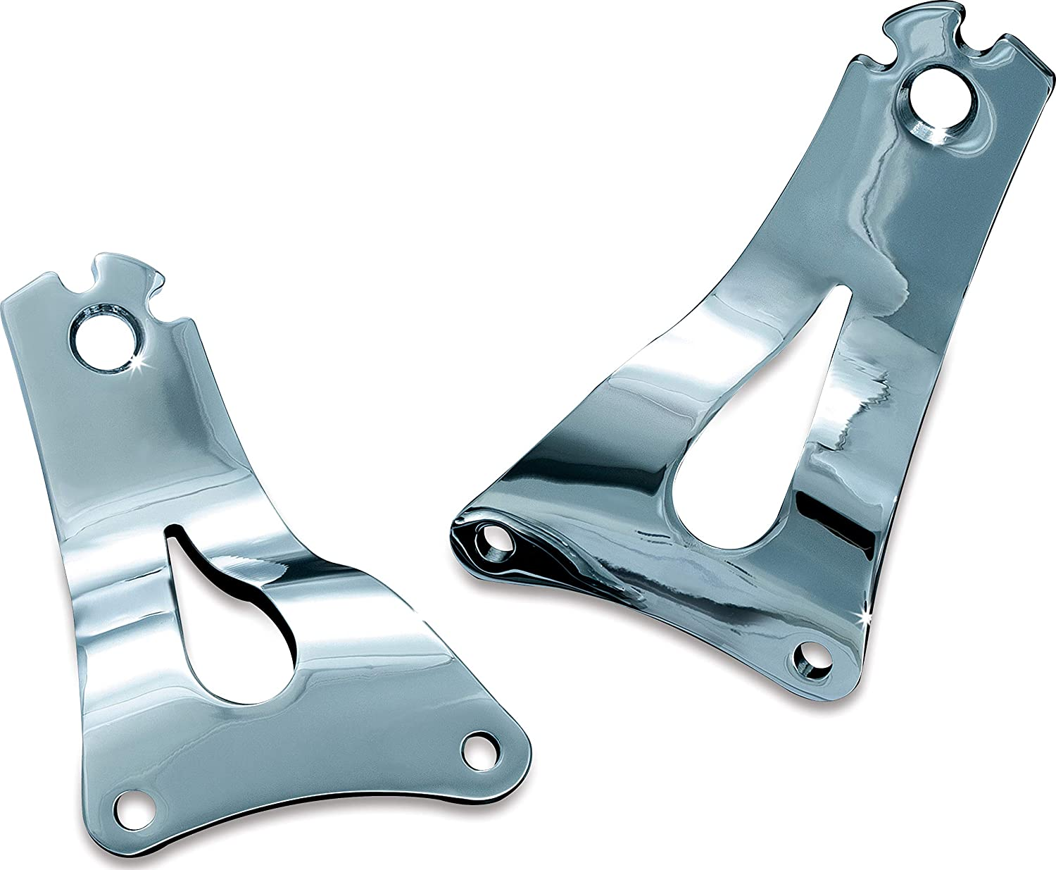 1 Pair Chrome Quick Release Mounts for 2014-19 Harley-Davidson Touring Motorcycles Kuryakyn 7093 Multi-Purpose Driver//Passenger Seat Backrest Component