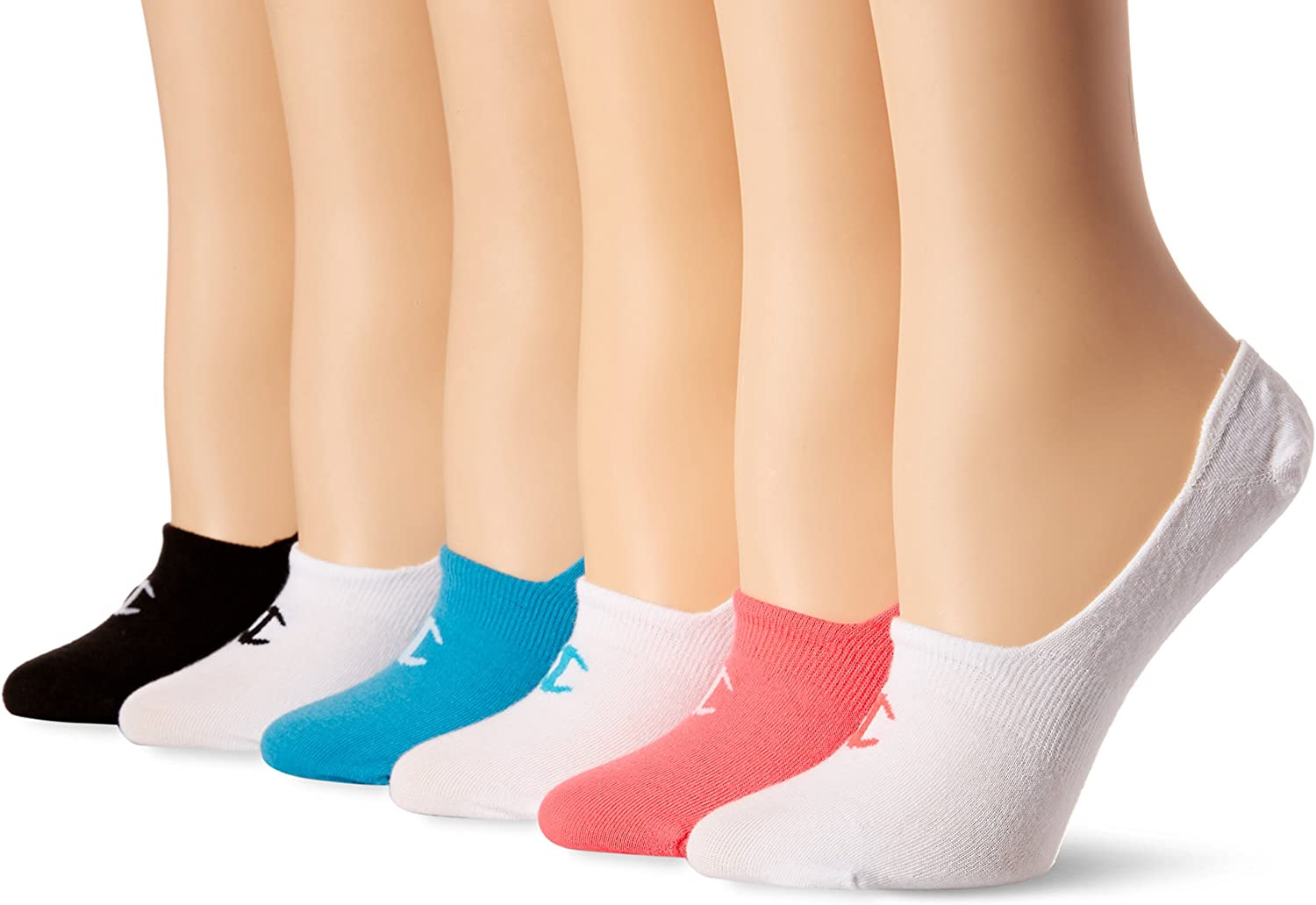 Champion womens Invisible Liner Socks Pack of 6