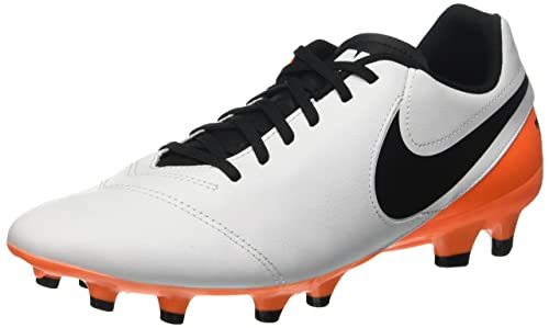purchase cheap c3c2a 34cc6 Nike Tiempo Genio II Leather FG Soccer Cleat (White, Total ...