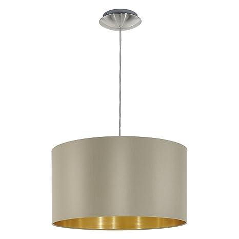 Eglo 31602 Lámpara de Techo, Niquel, Taupe-Oro