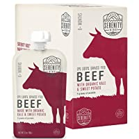 Serenity Kids Baby Food, Grass Fed Beef with Organic Kale and Sweet Potatoes, For...