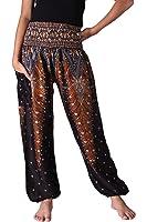 Bangkokpants Women's Boho Pants Peacock Design One Size Fits US Size 0-12