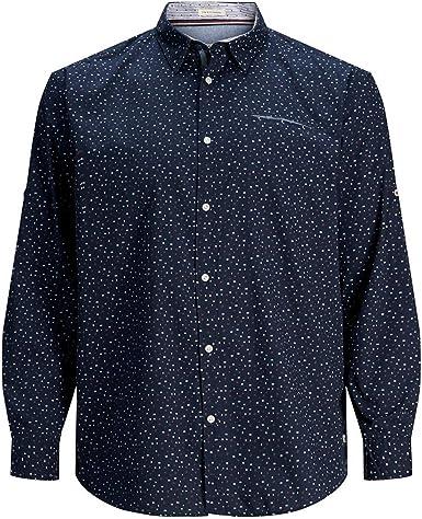 Camisa JACK&JONES Hombre Azul marino 12168254 JORDYLAN SHIRT LS PS: Amazon.es: Ropa y accesorios