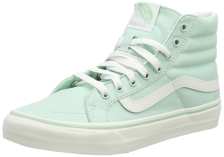Vans Unisex Sk8-Hi Slim Women's Skate Shoe B011PMBSCA 8.5 B(M) US|Gossamer Green Blanc