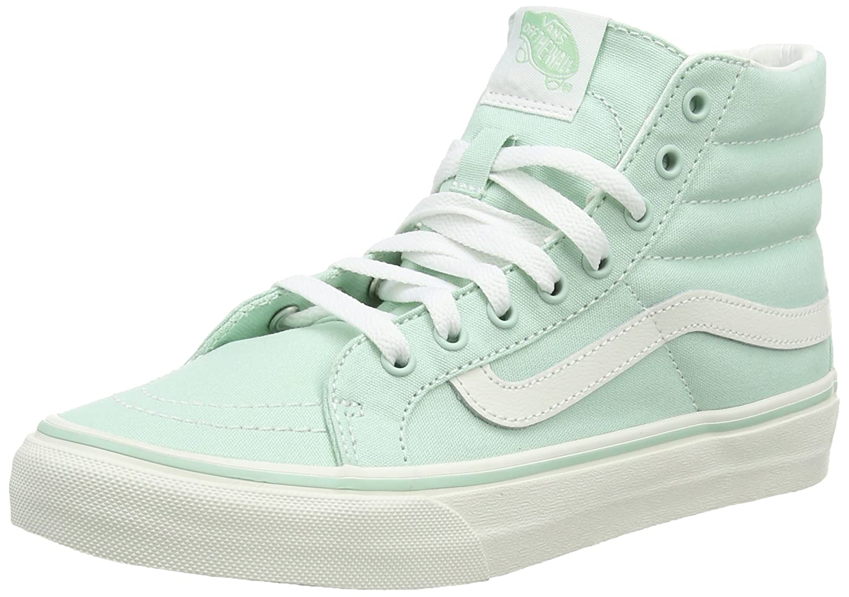 Vans Unisex Sk8-Hi Slim Women's Skate Shoe B011PMCDU6 10 B(M) US|Gossamer Green Blanc