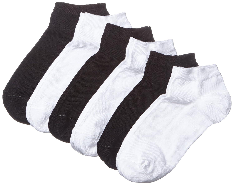 MyWay Women Sneaker Socks 6er Calze Pacco da 6 Black//White 968 35//38 Nero