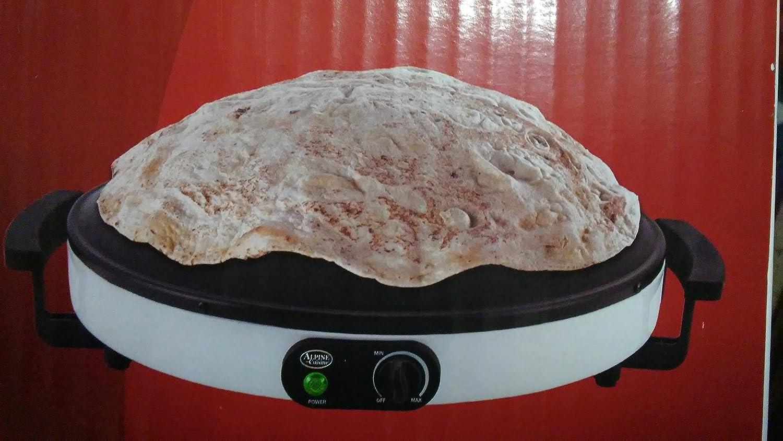 Electric Professional Model Tawa Saj Bread Roti Pan Chapati Flat Bread Tortilla Pita Bread Maker Warmer Machine 120V. Alpine Cuisine