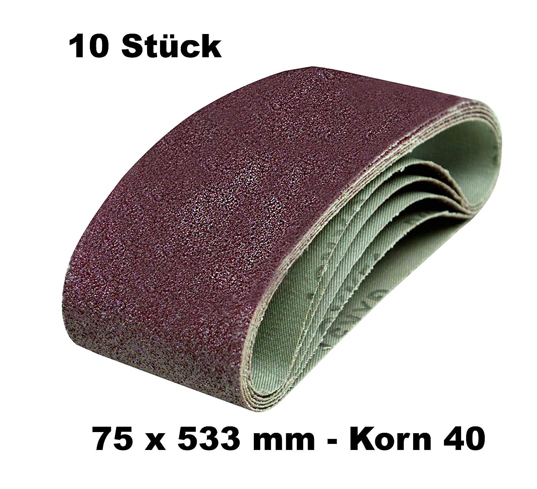 DKB Gewebe Schleifb/änder 75 x 533 mm Schleifband Bandschleifer 20, Korn 120