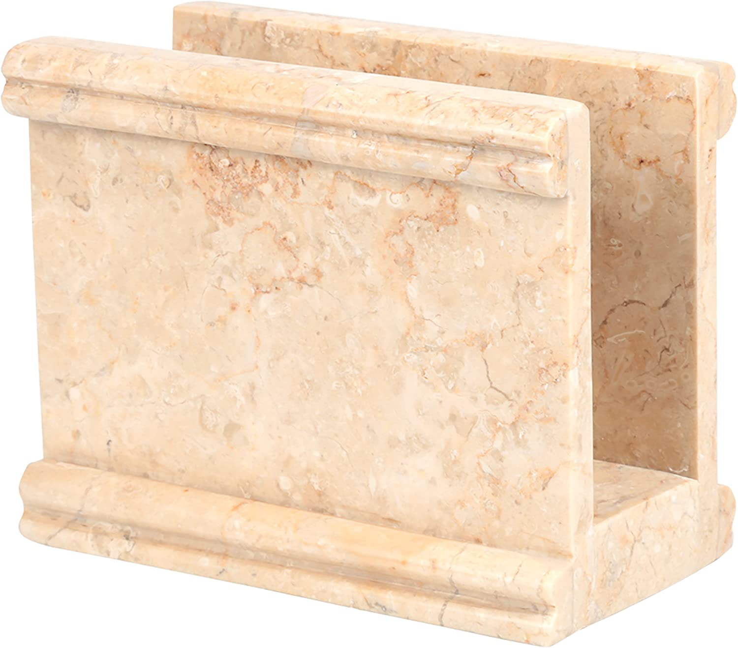 Creative Home Natural Champagne Marble Stone Napkin Holder, Stand, Dispenser, Column Collection,Beige