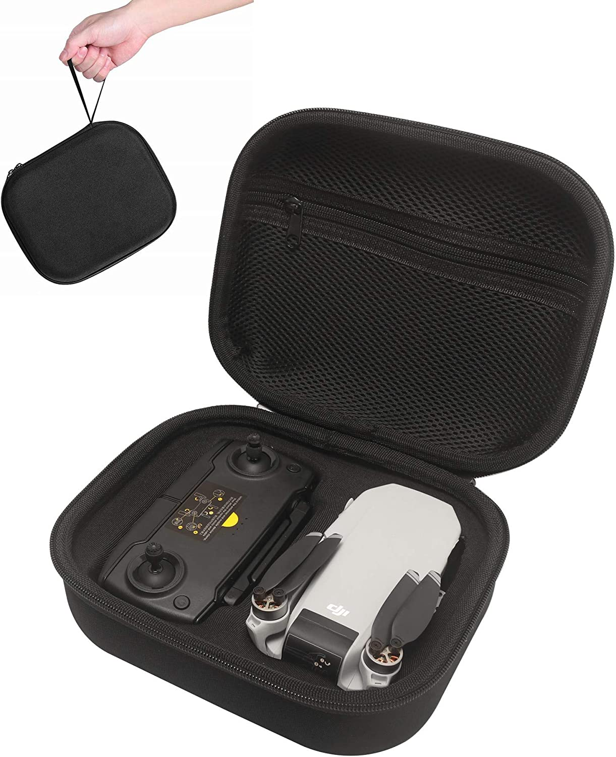 Hard EVA Carrying Case with a Silicone Propeller Fixator for DJI Mavic Air 2 Black Portable Storage Bag,Grey Elastic Eco-Friendly Propellers Protector//Guard Accessories