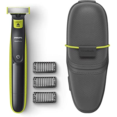 Philips OneBlade QP2520/65 - Recortador de Barba con 3 peines y funda de viaje