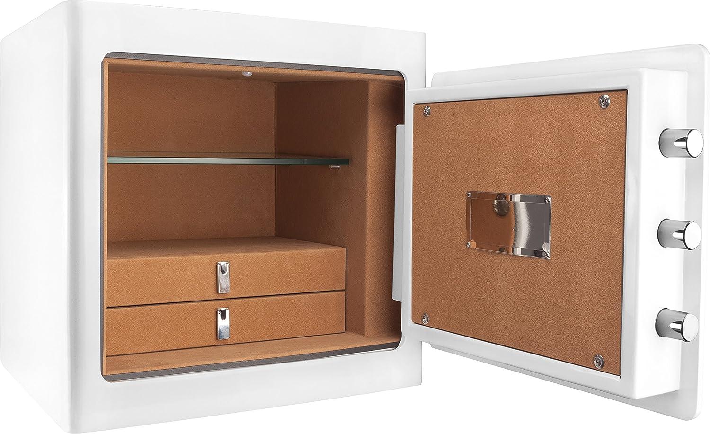 Barska AX13104 Keypad Jewelry Safe Tan Interior, One Size, White AX13102