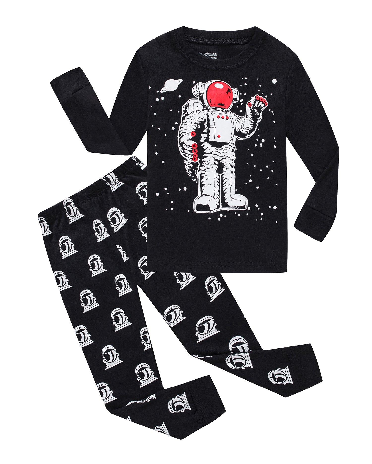 Astronaut Little Boys Long Sleeve Pajamas 100% Cotton Clothes Toddler Size 7