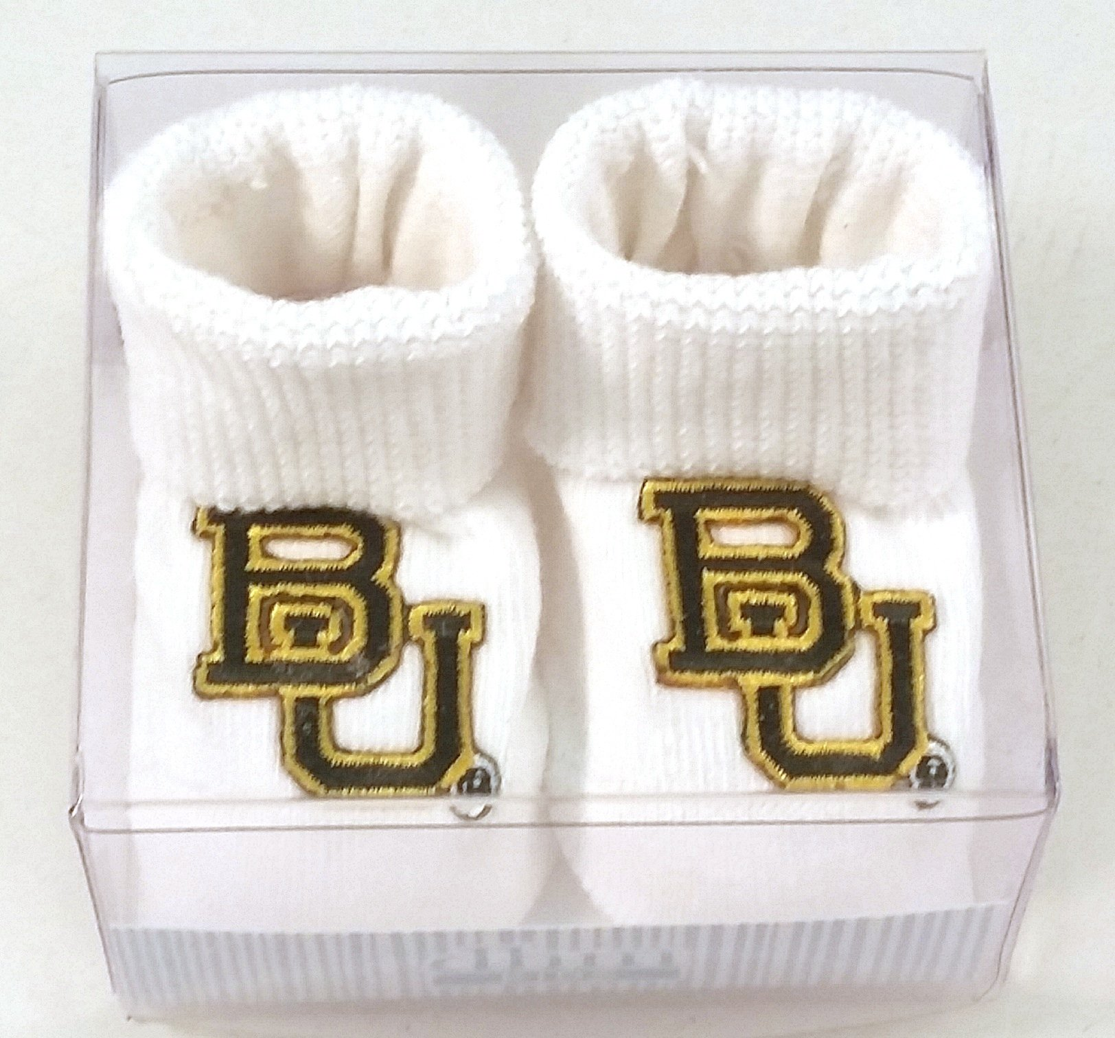 Future Tailgater Baylor Bears Boxed Baby Booties