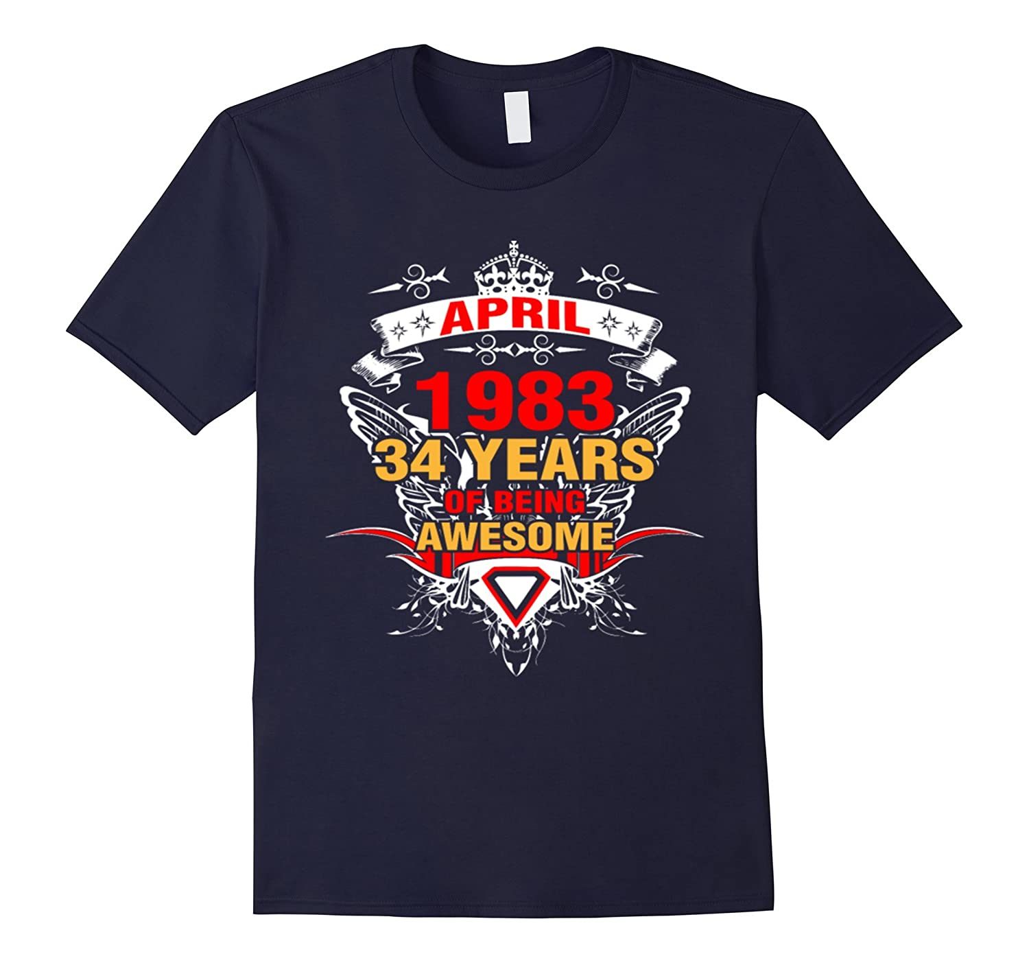 Made In 1983 34th Birthday 34 Years Old Gift T-Shirt-TH