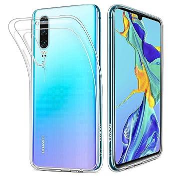 aaed6e2b8f0 HOOMIL Transparente Silicona Funda para Huawei P30, Clear Carcasa Case para Huawei  P30, 3520EPX: Amazon.es: Electrónica