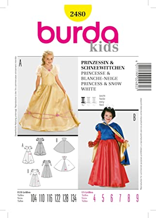 Burda Cm Princesse De Couture Patron B2480 X 13 Et Neige Blanche 19 WEIH92DY