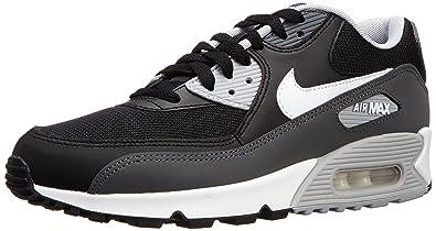 quality design af3fe 23f9a Nike Herren Air Max 90 Essential Laufschuhe, Schwarz Weiß Grau (Black