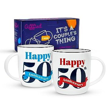 Gifffted Tassen 50 Hochzeitstag Goldene Hochzeit Geschenk