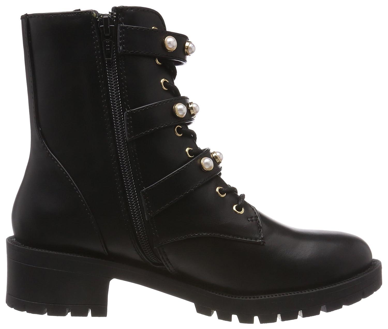 2826a423 Bianco Women's Pearl Biker Boots, Black (Black 100), 7.5 UK: Amazon.co.uk:  Shoes & Bags