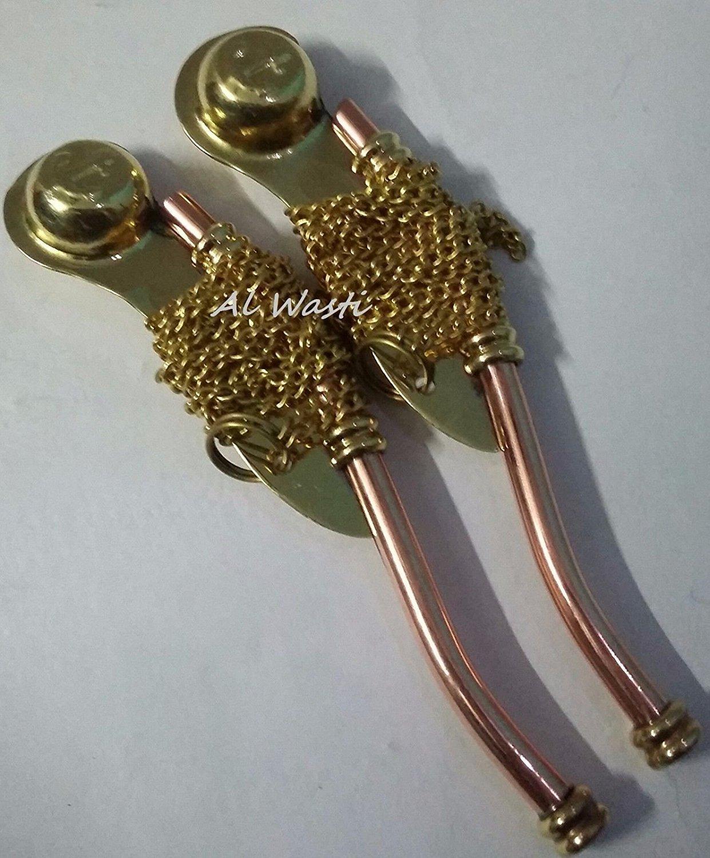"New 5/"" Brass Copper Boatswain Whistle W// Chain Bosun Call Pipe Maritime Nautical"