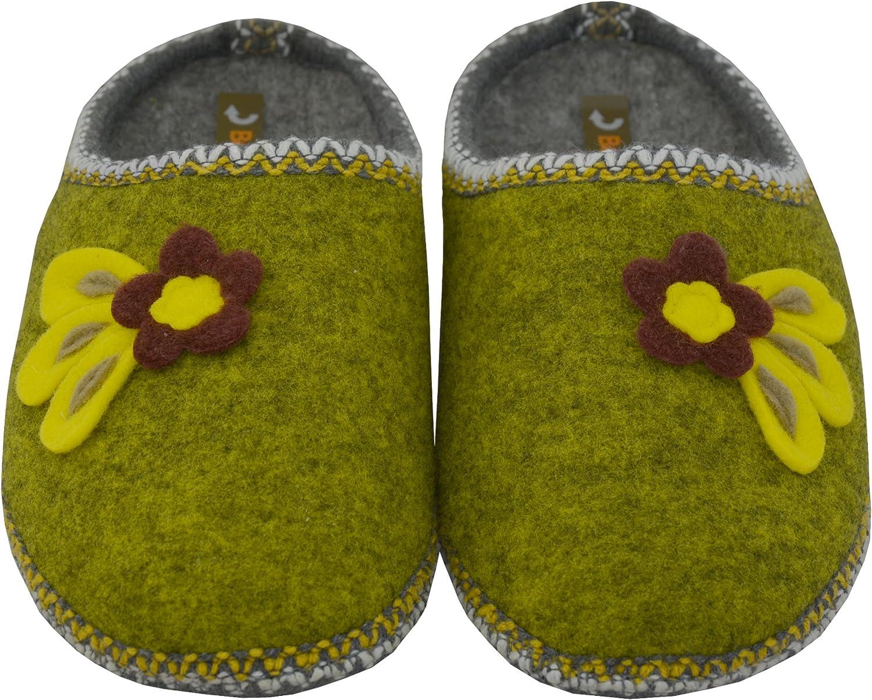 BeComfy Pantofole di Feltro Donna Uomo Suola Antiscivolo Unisex Ciabatte Scarpe da Casa Leggere Comodo Grigio Rosso Beige 36-46