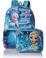 Disney's Frozen Elsa Backpack with Clear Pocket Lunchbox Bag
