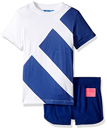 new arrival 7cae8 3160e adidas Originals Baby Boy's Originals Infant Eqt Short & Tee Set Suit, top:  white/mystery ink/color block bottom: mystery ink, 12M