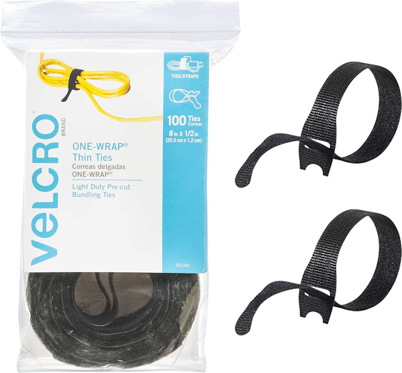 Correa de Velcro una envoltura Bridas X 1 Metros Cable Gestión Varios Colores