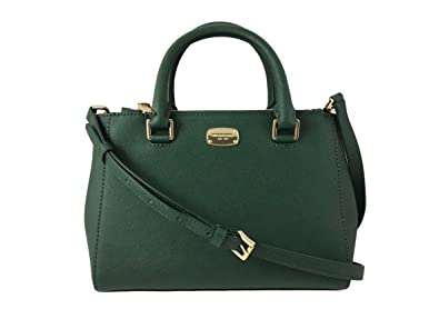 98fb3c13a2df Amazon.com  MICHAEL KORS Kellen XS Saffiano Leather Satchel Bag in Moss  Green  Shoes