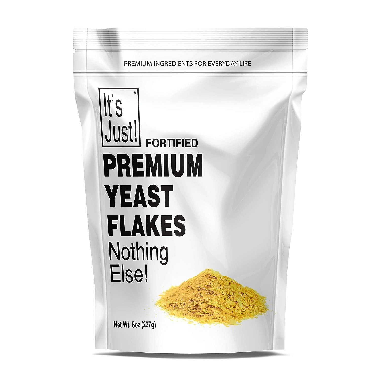 It's Just - Nutritional Yeast Flakes (Nooch), Tastes Like Cheese, Vegan, Keto Friendly, Fortified, 8oz