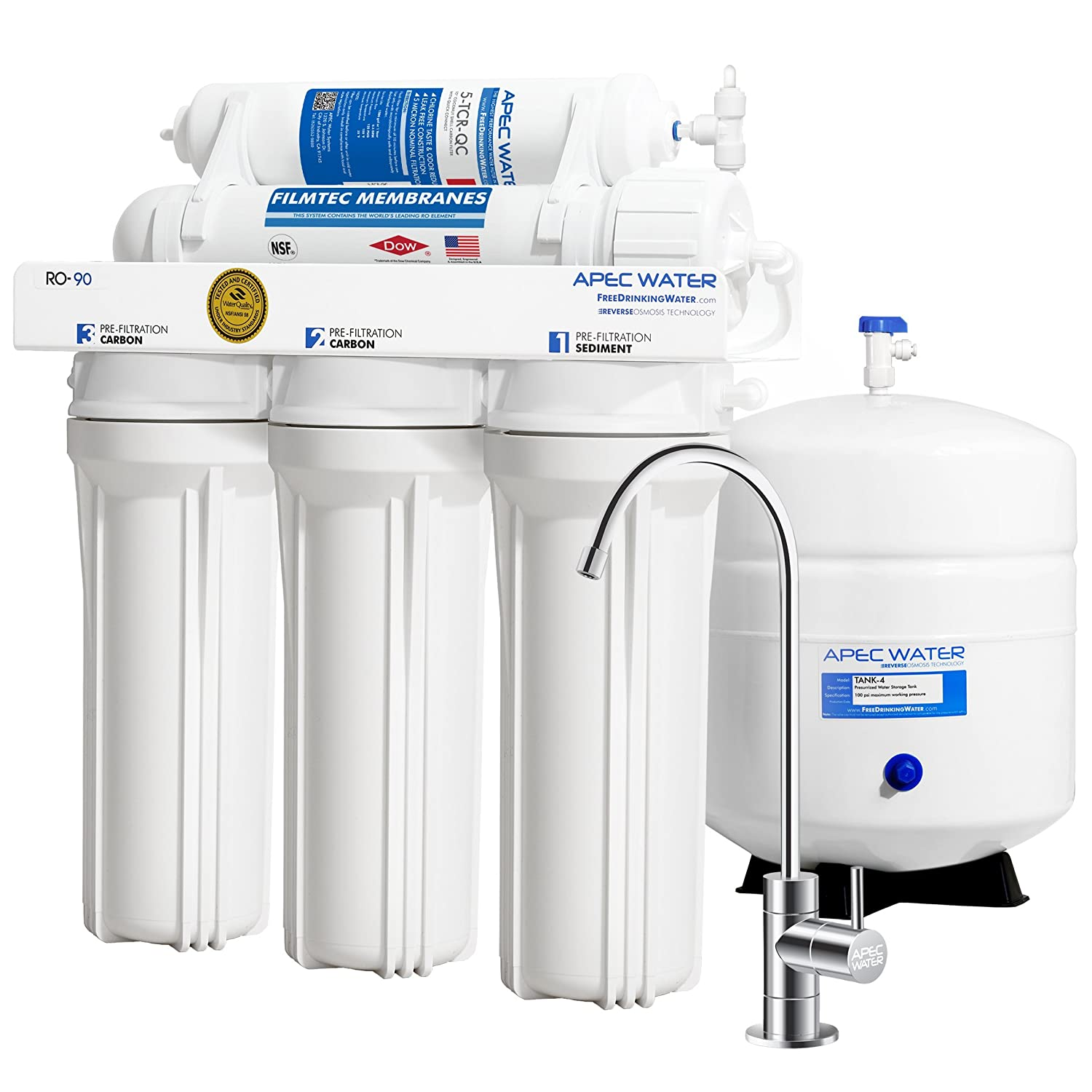 APEC Water Systems Reverse Osmosis Drinking Water Filter System,